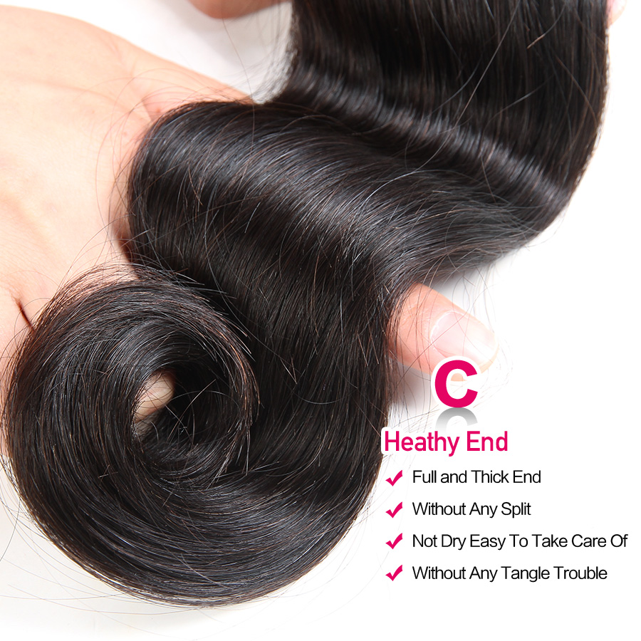 HTB1klMHvTJYBeNjy1zeq6yhzVXaB Beautiful Princess Body Wave Human Hair Bundles With Closure Double Weft Remy Brazilian Hair Weave 3 Bundles With Closure