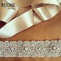 El nuevo encanto piedras moldeado cristalino perlas apliques mujeres pretina ancha abalorios de lujo del diamante de la boda cinturones de novia