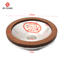 цена на 4inch Grit 120-600# Diamond Grinding Wheel Resin Bonded Flaring Cup For Carbide Metal 75% 100x20x10x3mm