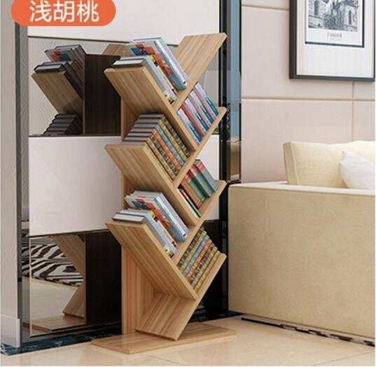 104cm Eco Friendly 7 Layers Creative Tree Style Bookcases Portable Shelves Bedroom Bookshelf
