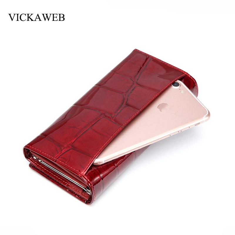 moda feminina carteiras longo para Name : Wallet Women Genuine Leather Wallet Female