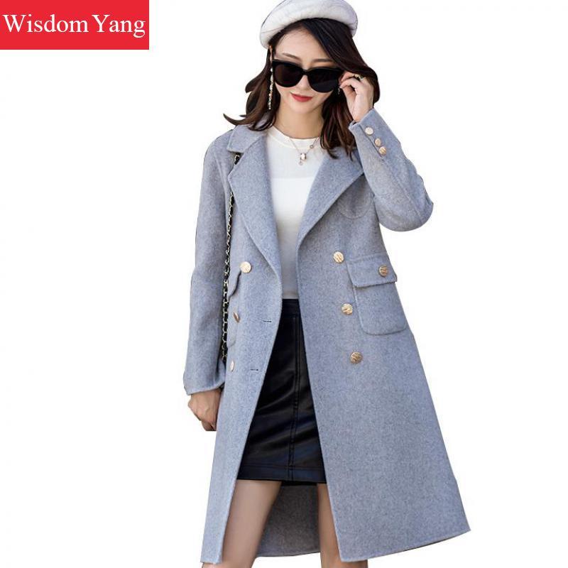 manteau xlong pardessus laine trench 2018 de occasionnel l gantes dames femme femelle blue. Black Bedroom Furniture Sets. Home Design Ideas