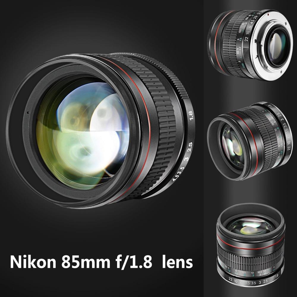 д4с пушка - Neewer 85mm f/1.8 Portrait Aspherical Telephoto Lens for Nikon D5 D4S DF D4 D810 D800 D750 D610 D600 D500 D7200 D7100 D7000