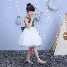 New childrens wedding dress girl summer princess  host event kids dresses girls hoodie
