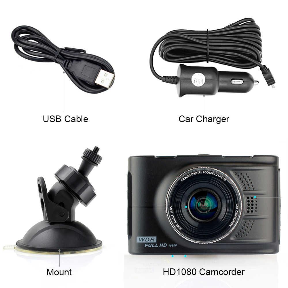 Podofo Novatek 96223 Автомобильный видеорегистратор 3,0 дюймов WDR Full HD 1080 P камера Viechle видеорегистратор регистратор 170 градусов Dashcam