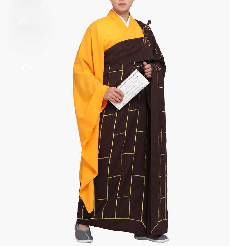 ユニセックス僧侶 WOODENHook cassocks スーツ制服少林寺僧侶のカンフーローブ禅レイ瞑想修道院長修道女 ZUYI