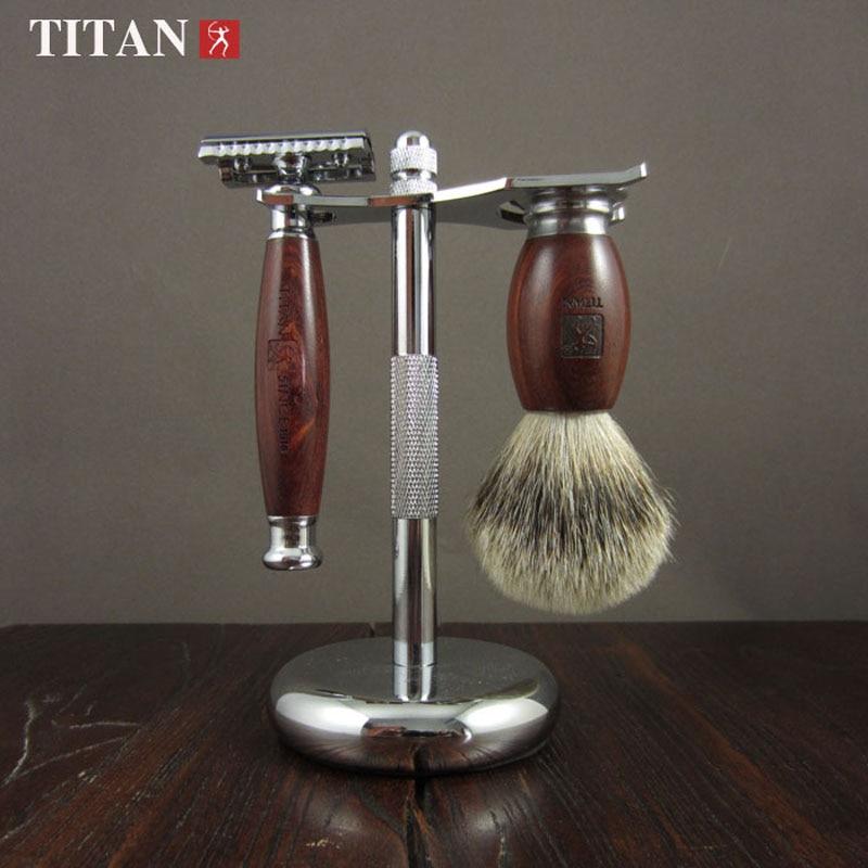Titan safety razor double edge safety razor set stainless steel Classic Fashion Men Manual Shaver - 4