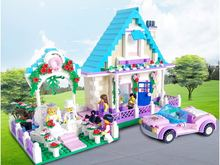 Enlighten 632PCS City Marriage Room Villa Wedding Bride Bridegroom Assembling Building Block Set Figures Model Diy Kids Toys
