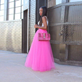 Hot Sale Treading Long Tulle Skirt Street Style Puffy Tutu Skirt With Lining Custom Made Size And Color Free Skirts Women