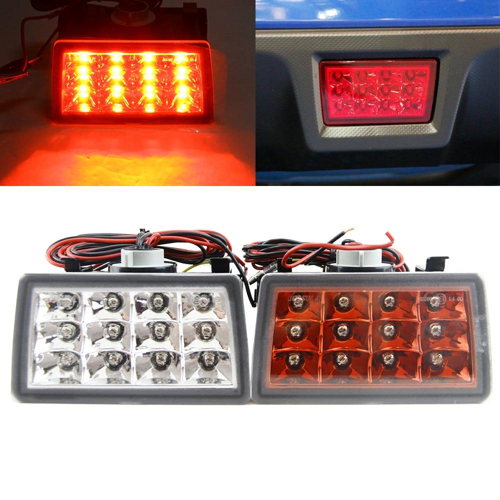 1pcs Clear/Red Lens Rear Fog Lights Brake Stop Tail Lamp Assembly For 2011 2016 Subaru WRX STi XV Impereza Car Lighting Source