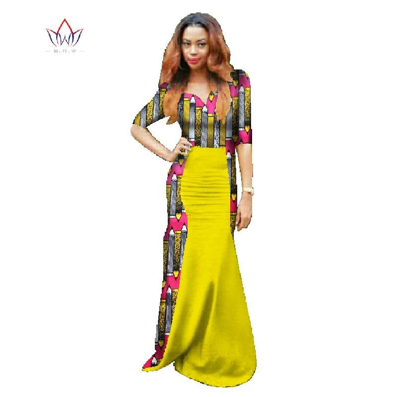 Buy 2017 African Women Long Ropa Africana De Mujer African Print Dresses Bazin