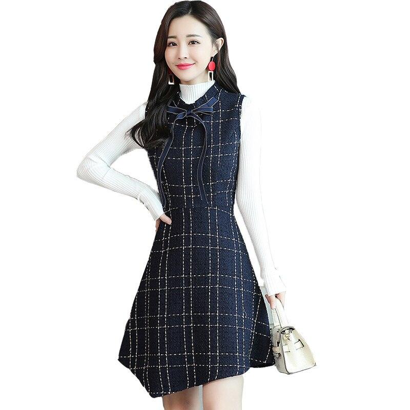 Deux-pièces ensemble robe femmes Slim Fit Top irrégulière Mini une ligne gilet robe dames robe femme élégante 2019 nouveau automne hiver 3XL