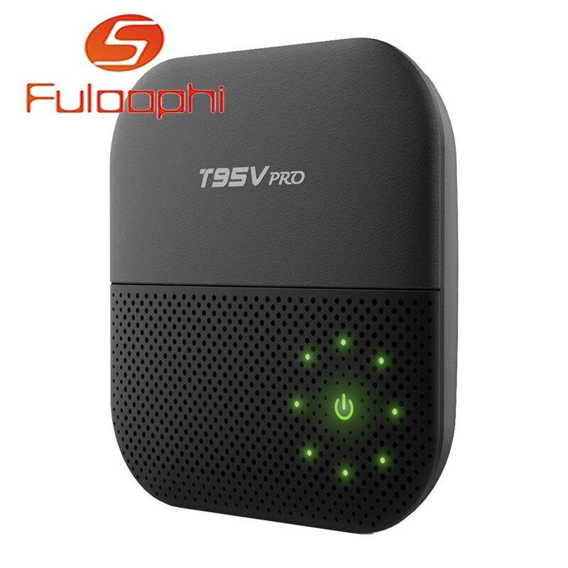T95V PRO Android 6.0 TV Box Amlogic S912 Octa Core 2GB 16GB 4K BT4.0 HDMI 2.0 KODI  WiFi HD Kodi Media Player Set-top box smart android tv box zidoo x6 pro octa core hd 4k 3d 2gb 16gb h8 m8s network media player hdmi 2 0 bluetooth 4 0 dual wifi kodi
