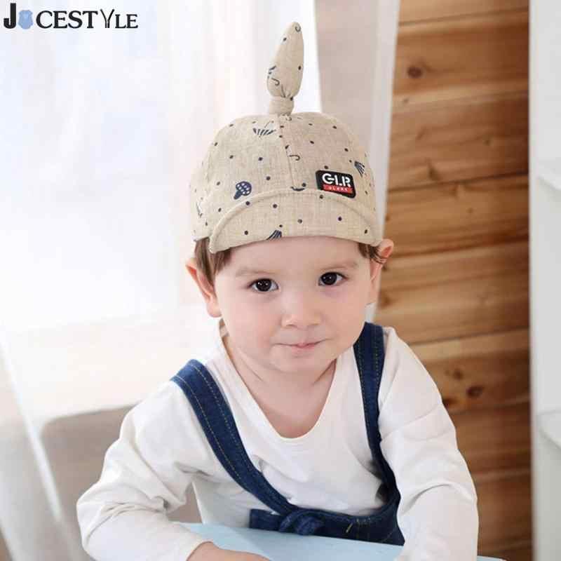 Fashion Summer Unisex Baby Boys Girls Hat Kids Dot Umbrella Print Cartoon Knot Sun Baseball Cap Soft Brim Hat