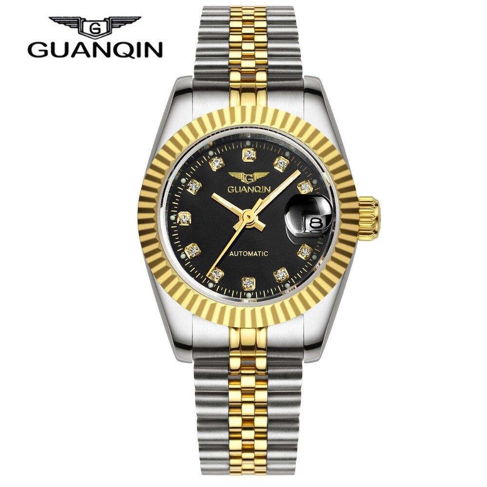 Montre Femme 2016 Watches Women High Quality Waterproof GUANQIN Brand Fashion Gold Dress Clock Women Watch