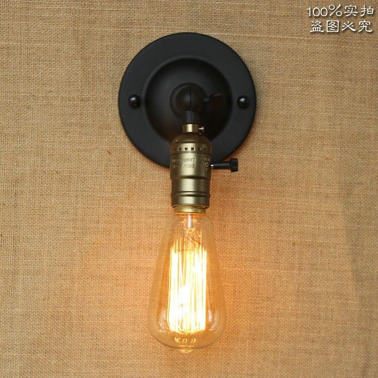 Campagne américaine Loft Style Mur De Fer Lampe Rétro Salon Chambre Lumière Industrie Vintage Lumière Décorative Livraison Gratuite