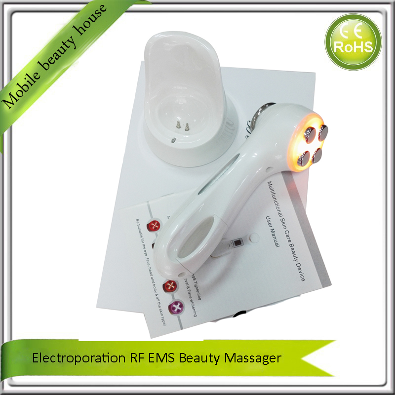 Mini Portable USB Rechargeable Sonic Vibration RF EMS Photon Skin Tightening Acne Wrinkle Removal Anti Aging Beauty Massager mini portable usb rechargeable ems rf radio frequency skin stimulation lifting tightening led photon rejuvenation beauty device