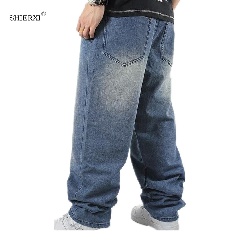 Image 3 - SHIERXI Man loose jeans hiphop skateboard jeans baggy pants denim pants hip hop men ad rap jeans 4 Seasons big size 30 46-in Jeans from Men's Clothing
