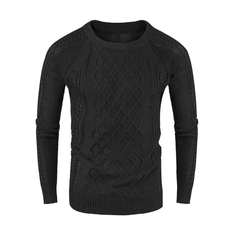 M-XXL Sweater Men 2018 New Arrival Casual Pullover Men Autumn Round Neck Patchwork Quality Knitted Brand Male Sweaters Plus Size