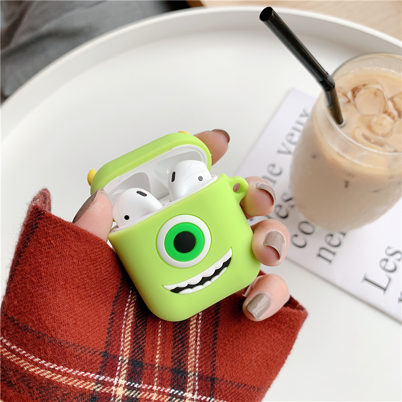 Silicone Case for Airpods Accessories for i10 TWS Bluetooth Earphone Protective Cover Bag Anti-lost Strap Cute Cartoon bear DIY9