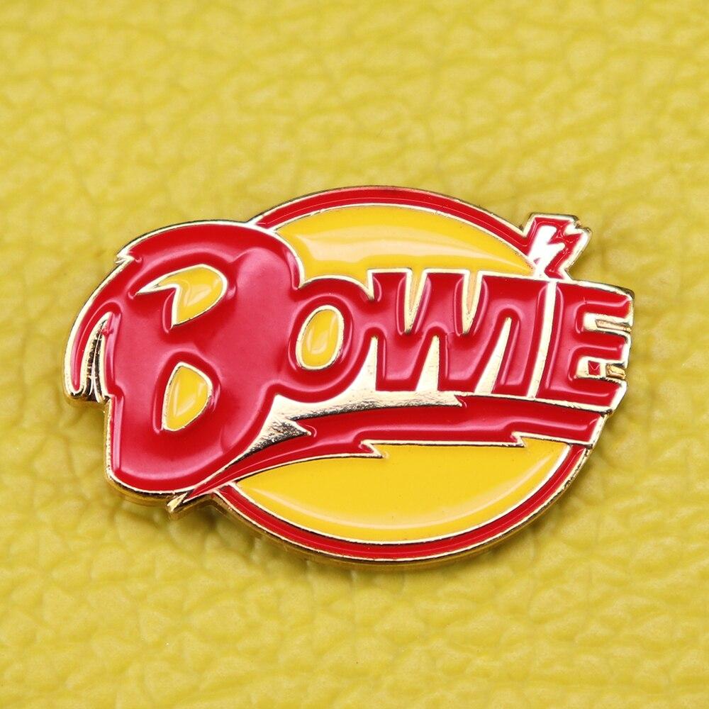 US $2 81 28% OFF|David Bowie Rebel Bolt Enamel Pin Ziggy Stardust Aladdin  Sane Lightning Heroes Starman Celebrity Musician badge Let's Dance Bowi-in