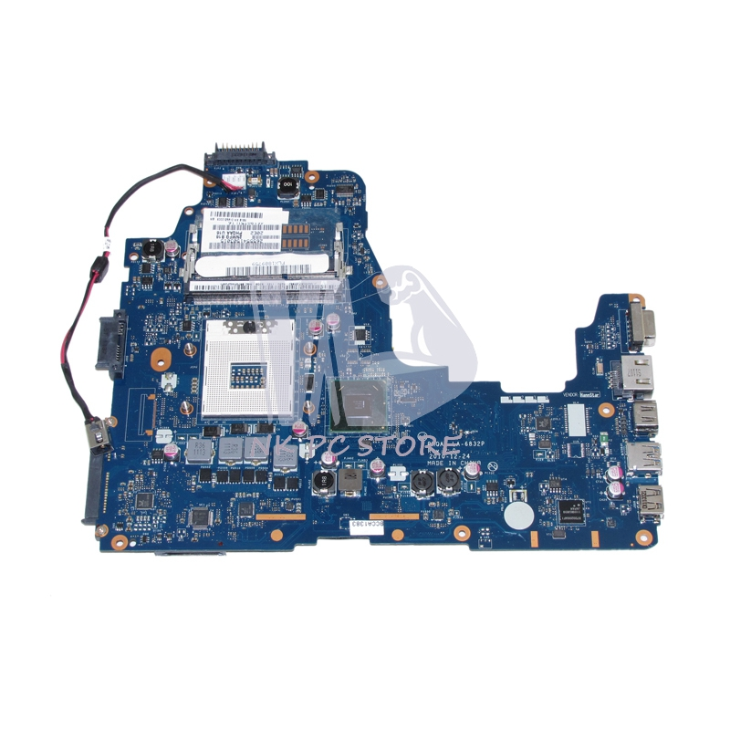 NOKOTION MAIN BOARD For Toshiba Satellite A660 A665 Laptop Motherboard K000125610 PHQAA LA-6832P HM65 UMA DDR3 nokotion genuine h000064160 main board for toshiba satellite nb15 nb15t laptop motherboard n2810 cpu ddr3