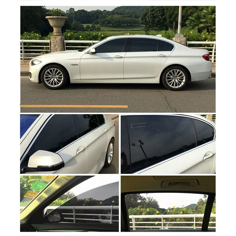Image 3 - 50*600cm Black Window Film For Car Window Glass VLT Auto House Commercial UV+Insulation Car Film For Side Windows-in Car Stickers from Automobiles & Motorcycles