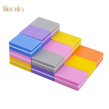 20pcs Mini Nail Sponge Buffers For UV Gel File Sanding Tools Colorful Small Art Polishing Files Salon