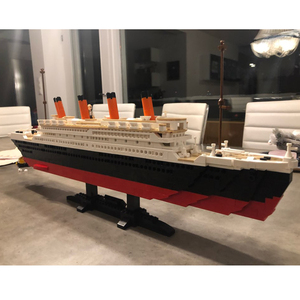 Image 5 - Titanic RMS cruise Boat ship City Model building kits 3D  Blocks Educational Figures diy toys  hobbies for children Bricks