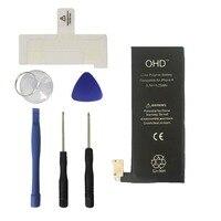 OHD iPhone 4 4G için 100% Orijinal Batarya 3.7 v 1420 mAh 0 Döngüsü Iç Yedek Piller + Araçları hediye