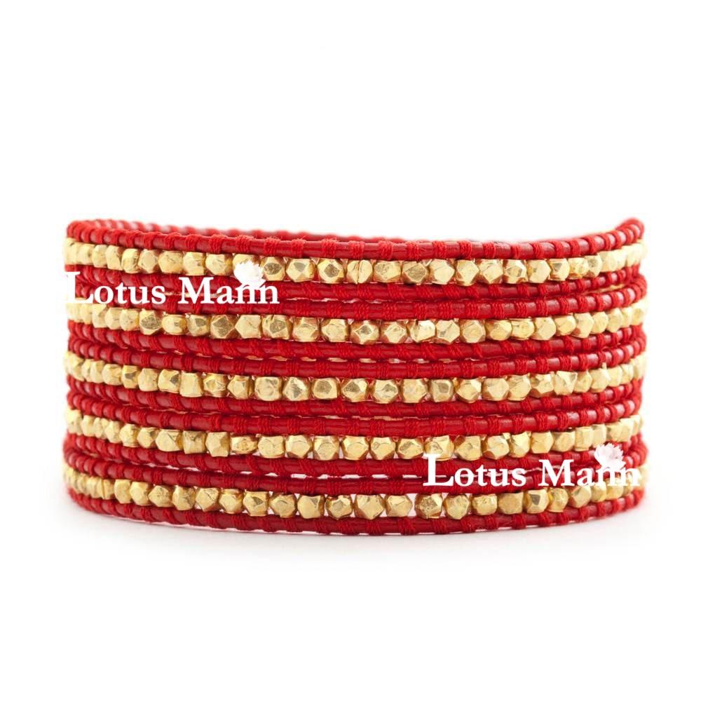Здесь продается  Lotus mann classic 923 sterling silver kim 5 circle red leather bracelet 5 wrap bracelet  Ювелирные изделия и часы
