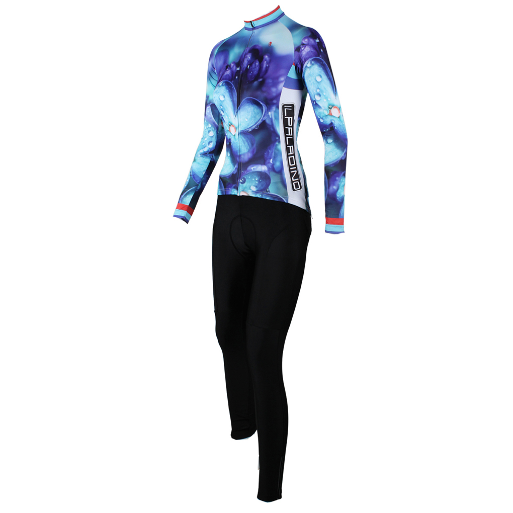 T shirt design quick delivery - New Fitness Compression Clothes Women Purple Flower Design Clothes Long Sleeve T Shirt Trousers Sets Fast Delivery