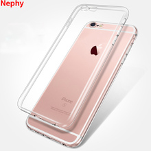 Nephy Silicone Case For iPhone 6 s 6S 7 8 Plus X 10 5 5S SE 5C 5SE 4 4S 6Plus 6SPlus 7Plus 8Plus Clear Flexible Cell Phone Cover