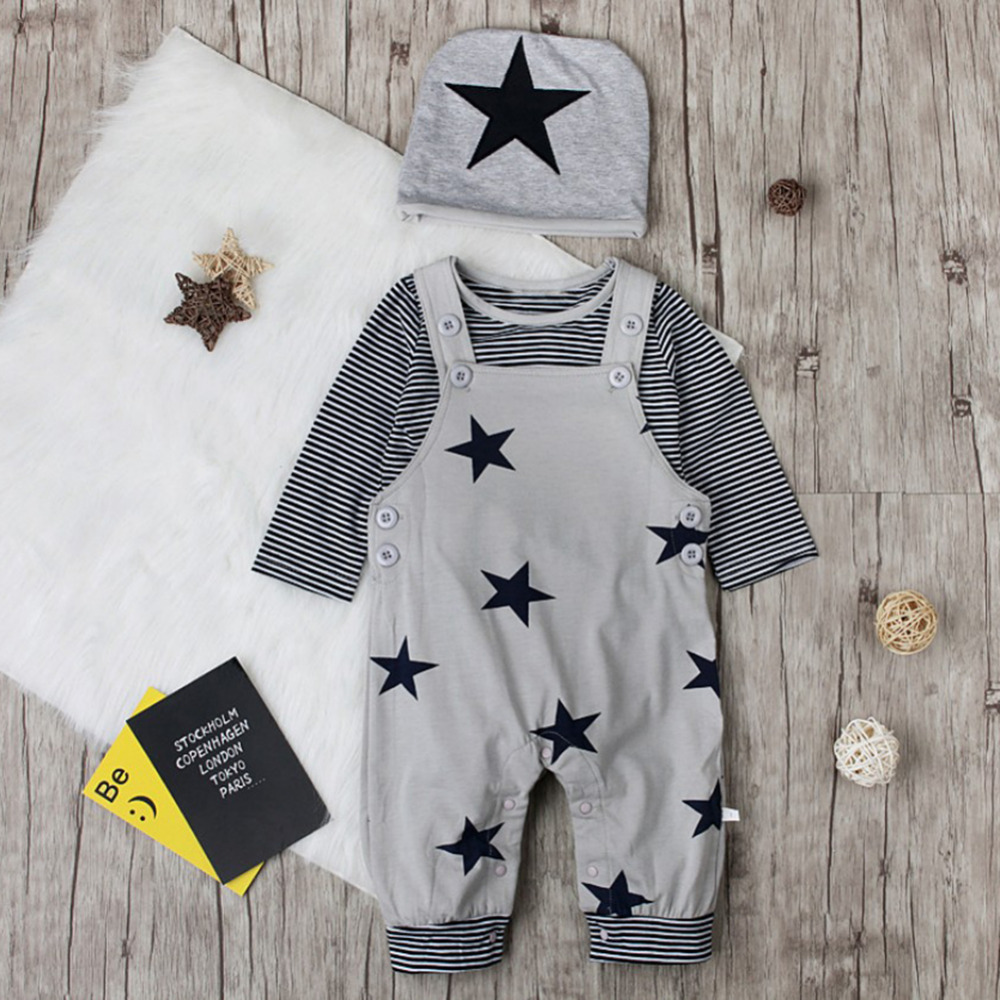 Baby O-Neck Long-Sleeve Solid Color Romper Tokyo Japan Print Crawling Clothes