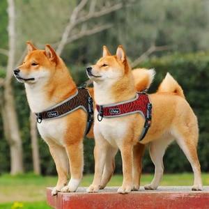 Image 5 - Reflective Dog Harness Adjustable Nylon Pet Mesh Harness Vest Pet Supplies For Medium Large Dogs Walking Training