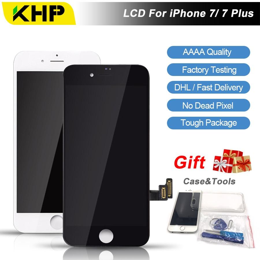 2018 KHP 100% Original AAAA Bildschirm LCD Für iPhone 7 Plus Lcd-bildschirm Ersatz Bildschirm IPS Display Touch 7 Plus Original-LCDS