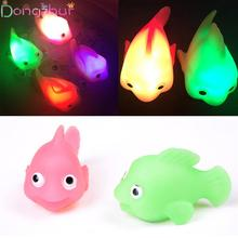Bath Toy Water Sensing Floating Electronic Goldfish Colored Luminous Small Glowing Fish Children Toys