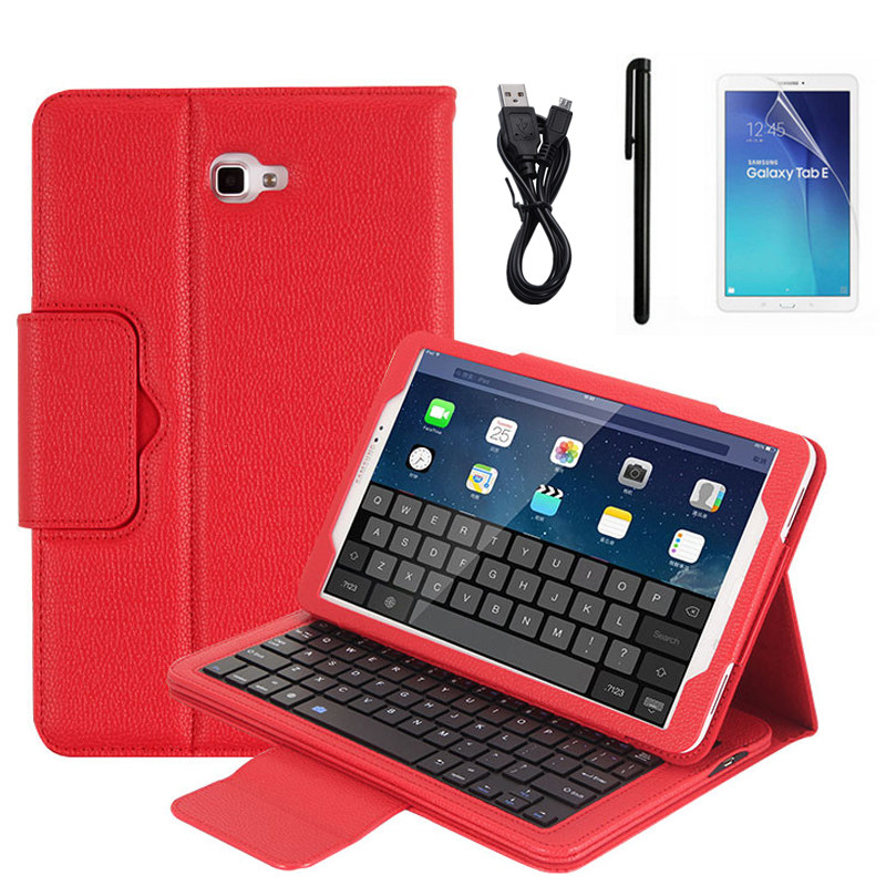 Kemile Removable Wireless Bluetooth Keyboard Portfolio Leather Stand Case Cover for Samsung Galaxy Tab A 10.1 T580/T585 Tablet a4 leather discolor manager file folder restaurant menu cover custom portfolio folders office portable pu document report cover
