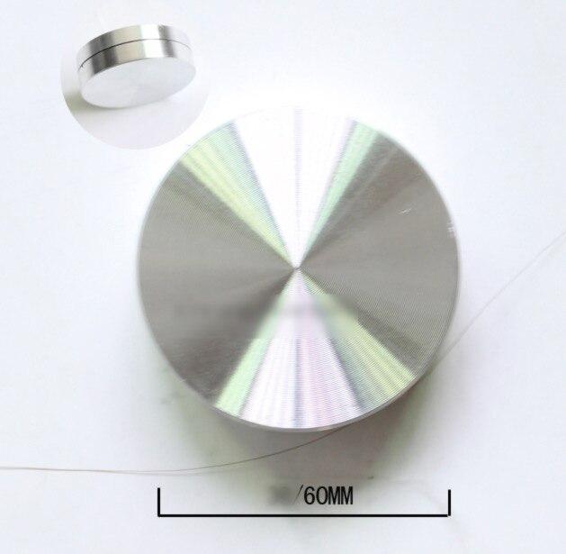 Swivel Platten Hardware Durchmesser 60mm Mini Aluminiumlegierung Drehtisch-lager Basis Display Handwerk Schwenkplatte GroßEs Sortiment