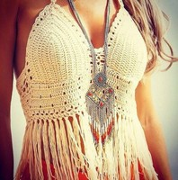 Plus Size Crochet Crop Top Fitness Crochet Top Cropped 2015 Summer Style Plus Size Beach Wear