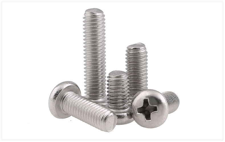 GB818 304 stainless steel round head screws M6 M8 M10 PM screws cross head screws 304 stainless steel flat head screws m6 m8 m10 screws km screws phillips screws