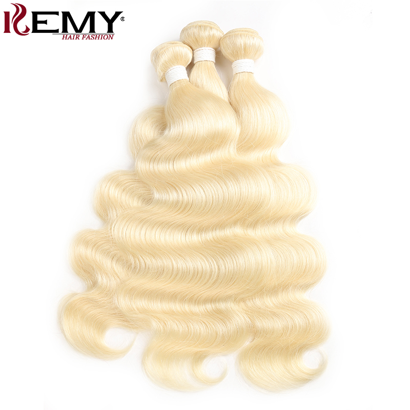 613 Color Honey Blonde Human Hair Bundle 8-26 Inch Body Wave Hair Extensions KEMY HAIR 2/3 PCS Non-Remy Hair Weave Bundles