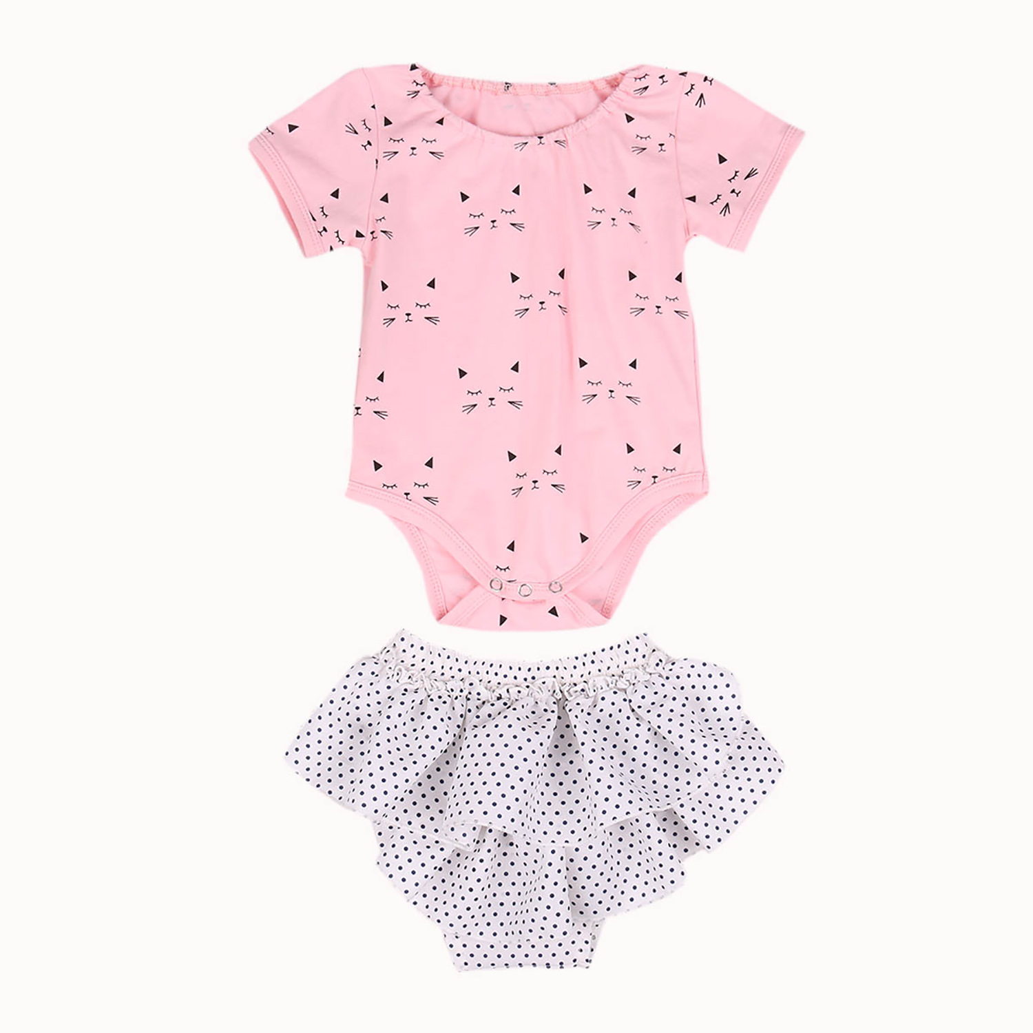 Cotton Infant Baby Girls Clothes Summer Short Sleeve Romper Jumpsuit + Shorts Pants 2pcs Outfits Baby Clothing Set