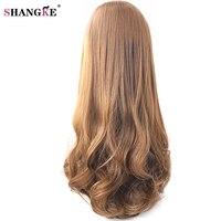 SHANGKE 26 Long Wavy Synthetic Half Wigs For Black Women Natural Half Hair Wigs Women Heat