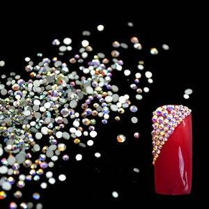 Стеклянные стразы на ногти, стразы для дизайна ногтей, 3D страз, украшения ногтей, драгоценные камни для маникюра MJZ1024