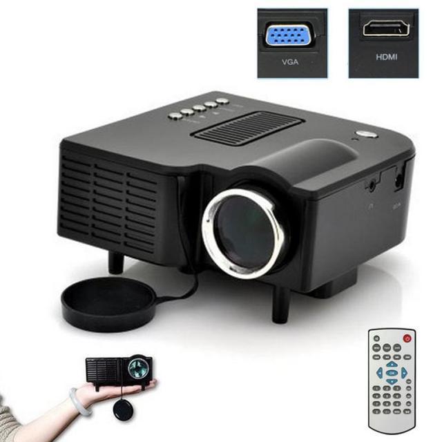 Venda quente Novo Portátil Multimedia Projetor Home Cinema Teatro Apoio AV VGA USB SD HDMI