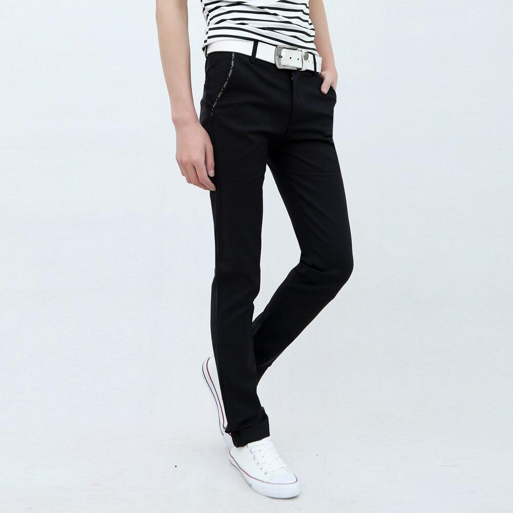 Été Élastique Coréenne Mince Maigre Pantalon Hommes De Mode Leggings Hommes pantalon Casual Hommes D'affaires Pantalon Mince Jambe La Peur De Dieu bottes
