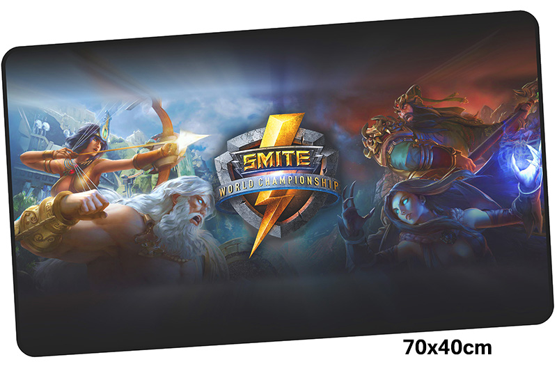smite mousepad gamer 700x400X3MM gaming mouse pad large Customized notebook pc accessories laptop padmouse ergonomic mat