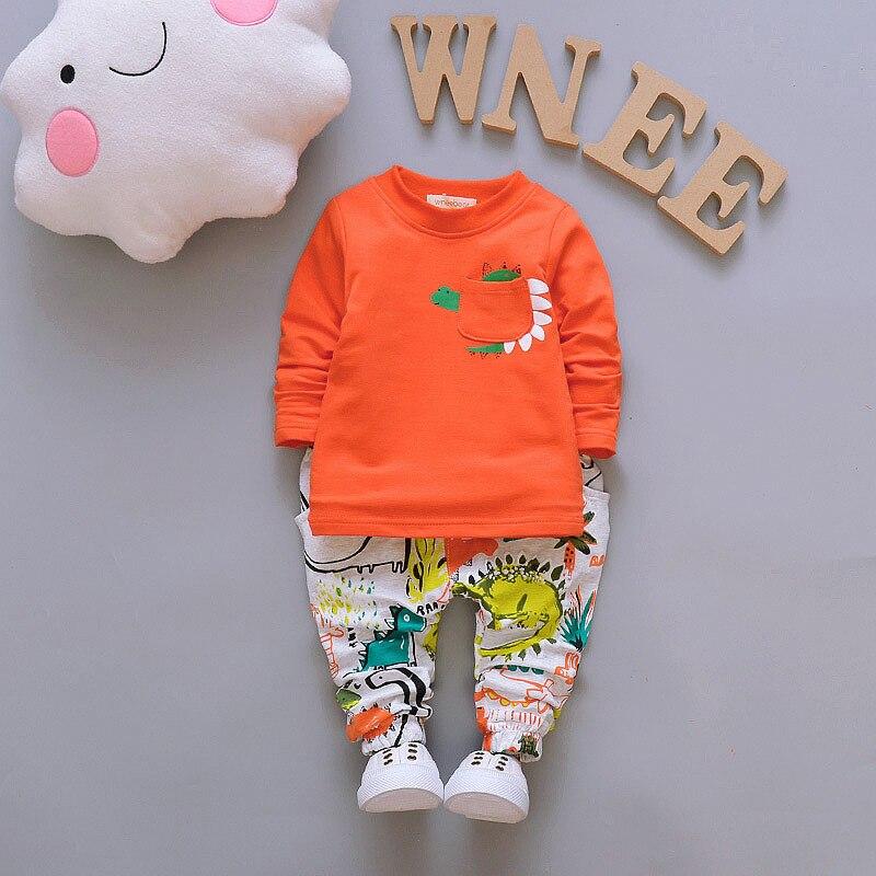 Spring Autumn Baby Boys Girls Clothes Sets Infant Cartoon Suit Children Zipper Hoodies T-Shirt Pants 3pcs Kids Cotton Tracksuits