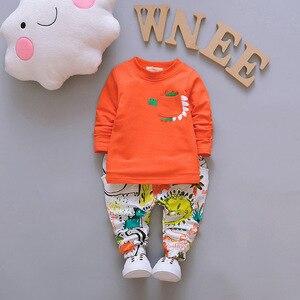 Image 3 - אביב סתיו תינוק בנים בנות סטי בגדי Cartoon חליפת ילדים רוכסן נים חולצה מכנסיים 3pcs ילדים כותנה אימוניות